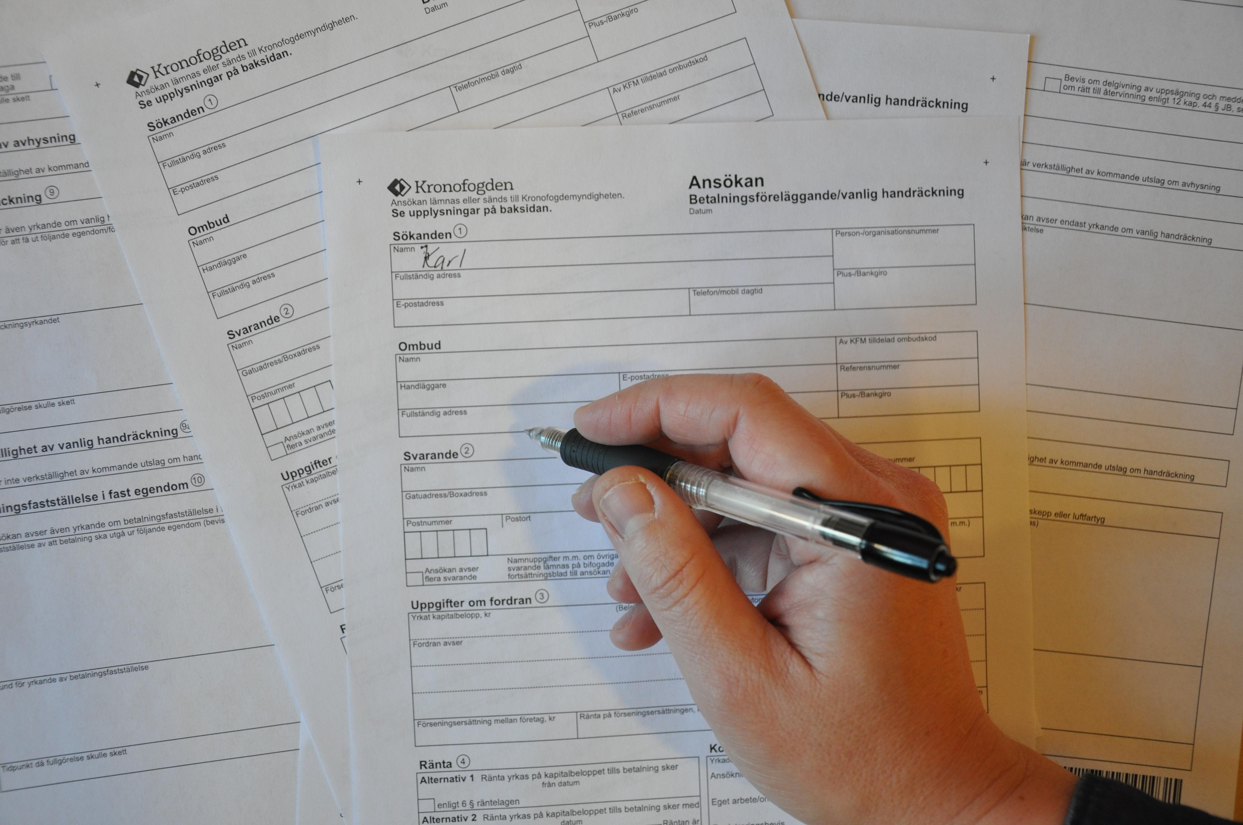Vad är betalningsföreläggande krävs