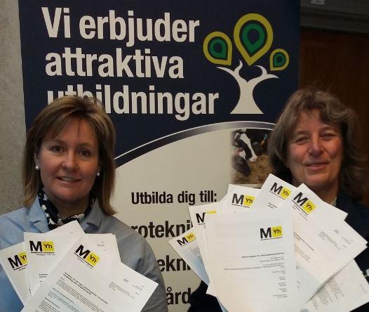 BYS i Skaras rektor Gunnel Marwén Kastenman samt Gunilla af Kleen är mycket glada för att efter hård  konkurrens få tolv yrkeshögskole-ansökningar beviljade.
