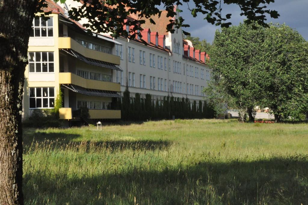 Stora Ekeberg i Skara har tidigare varit en flyktinganläggning. Nu är det inte det längre.