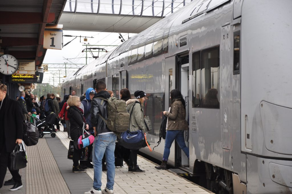 Järnvägsstationen i Skövde uppskattas av resenärerna.
