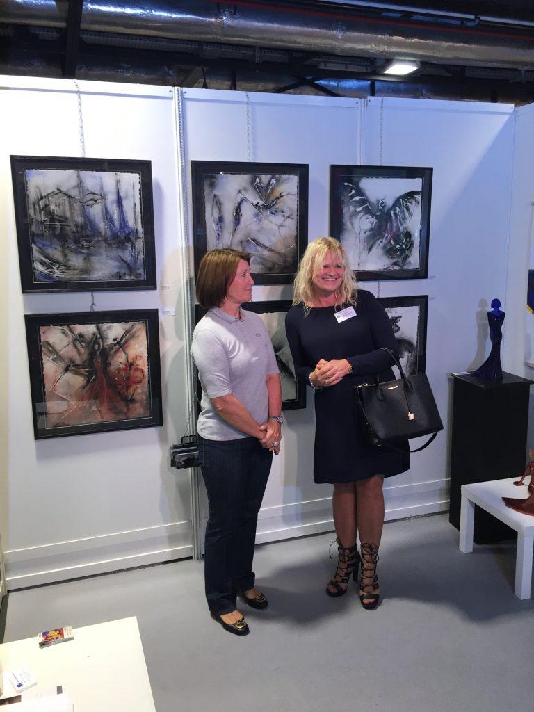 Dana Ingesson fick en pratstund med Marina Picasso.