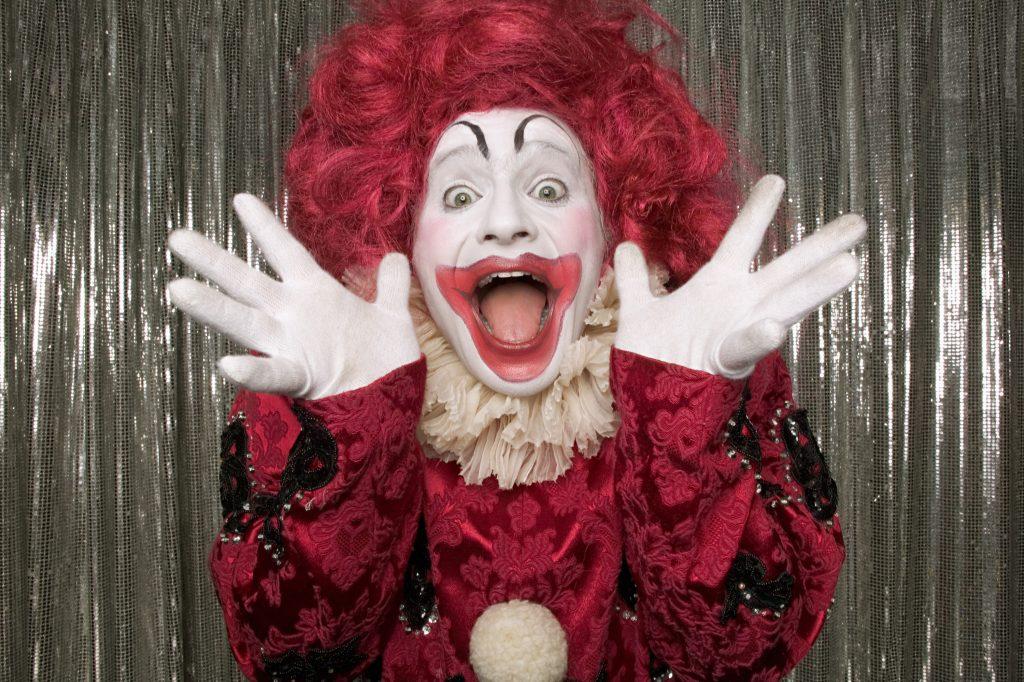 Shocked clown