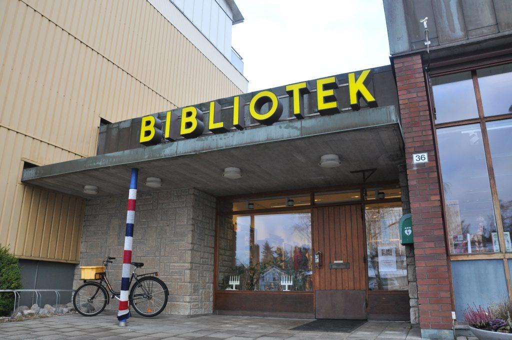 Biblioteket i Karlsborg.