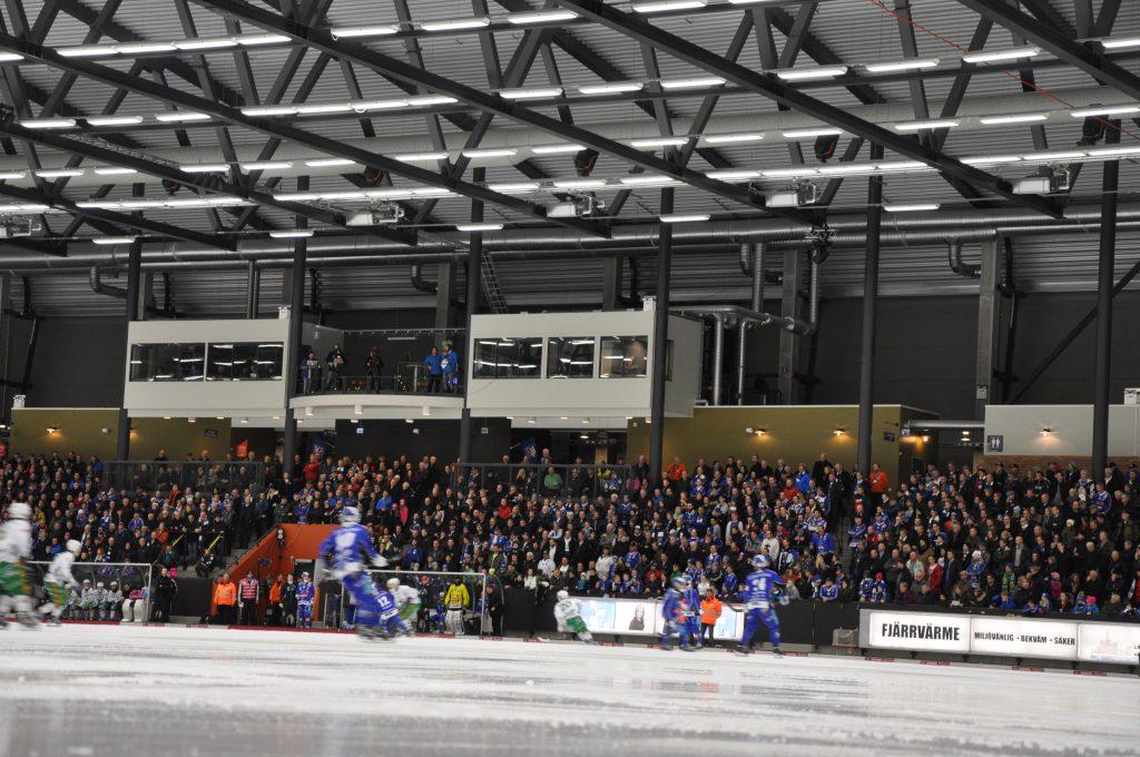Om Villa Lidköping tar sig till SM-final nästa säsong blir det i så fall spel utomohus. Foto: Fredrik Andersson