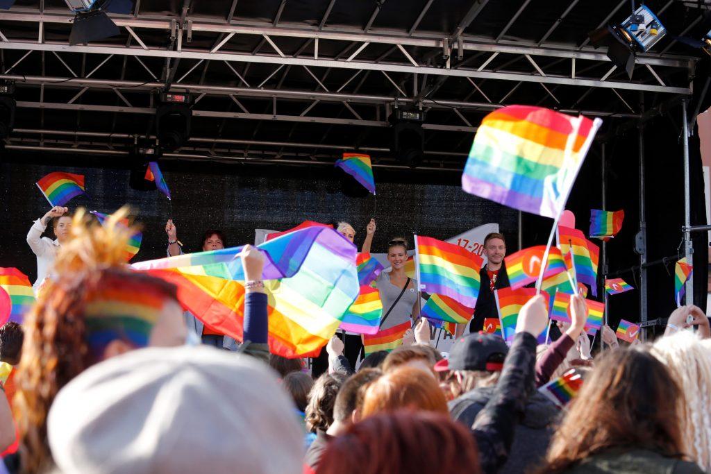 Bilden är från Pridefestivalen i Skövde 2015. Foto: Fotogruppen Skövde