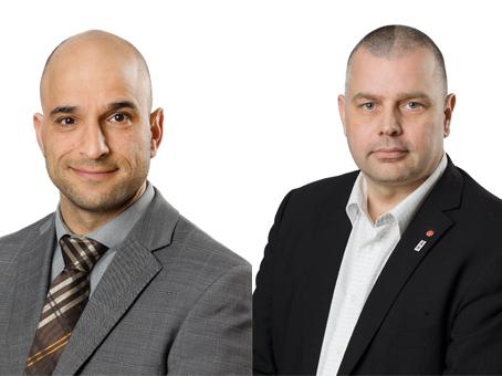 Alex Bergström (S) och Håkan Linnarsson (S). Bilden är ett montage.