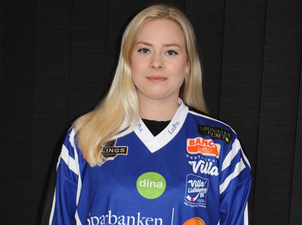 Rut-Lina Berner med tre SM-guld på meritlistan spelar med Villa Lidköping i damernas elitserie i bandy kommande säsong. Foto: Bengt Andersson