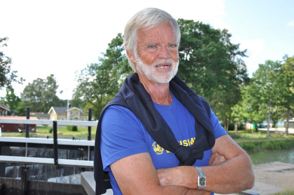 Göta kanalsimmet ger Sjötorp god reklam. Roger Selin i arrangörsteamet hoppas på 400 deltagare nästa år. Fler deltagare betyder fler besökare som betyder fler sponsorer…