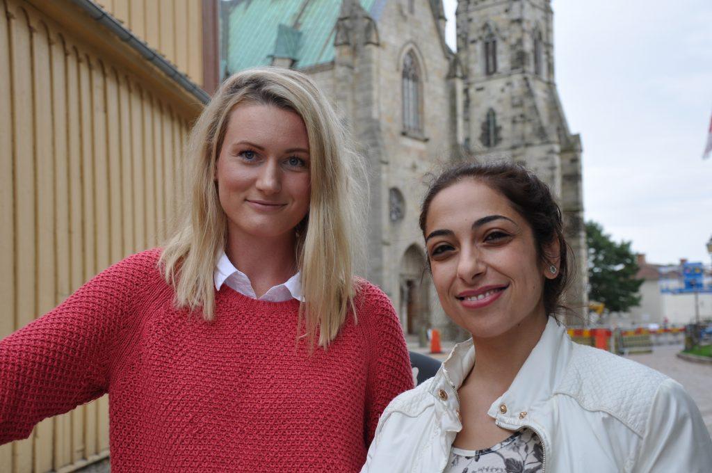 Karin Lövgren, projektledare för Språkvän i Skara kommun, och Loreen Hadad på Vuxenskolan har hållit i cykelprojektet tillsammans.