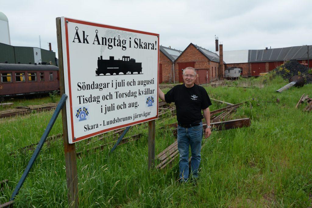 Thomas Roth är ordförande för Skara-Lundsbrunns Järnvägar