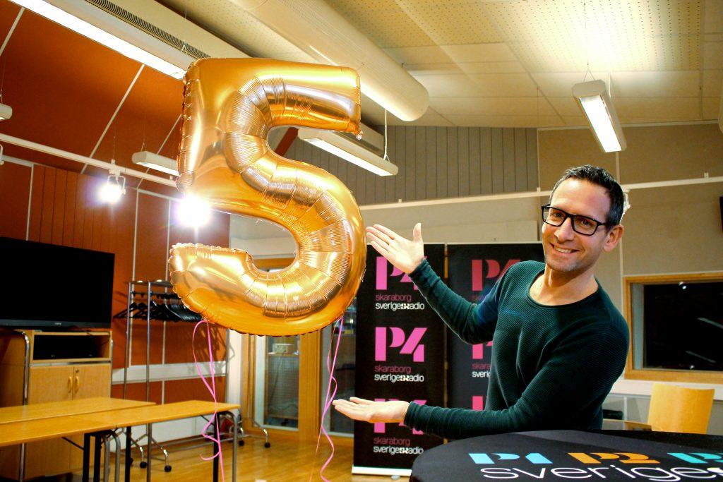 Torbjörn Borg, programledare för Vi i femman.    Foto: Sally Eriksson/Sveriges Radio