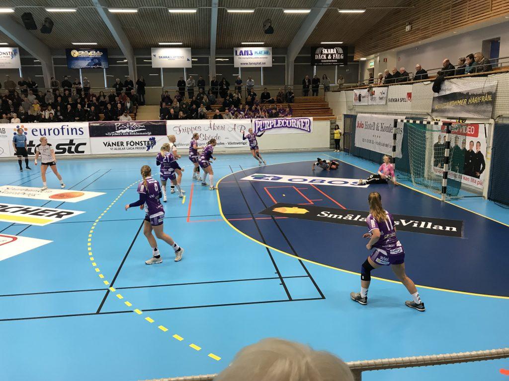 Skara HV vann över Heid på hemmaplan och tog ett kliv närmare slutspel. Foto: Fredrik Andersson
