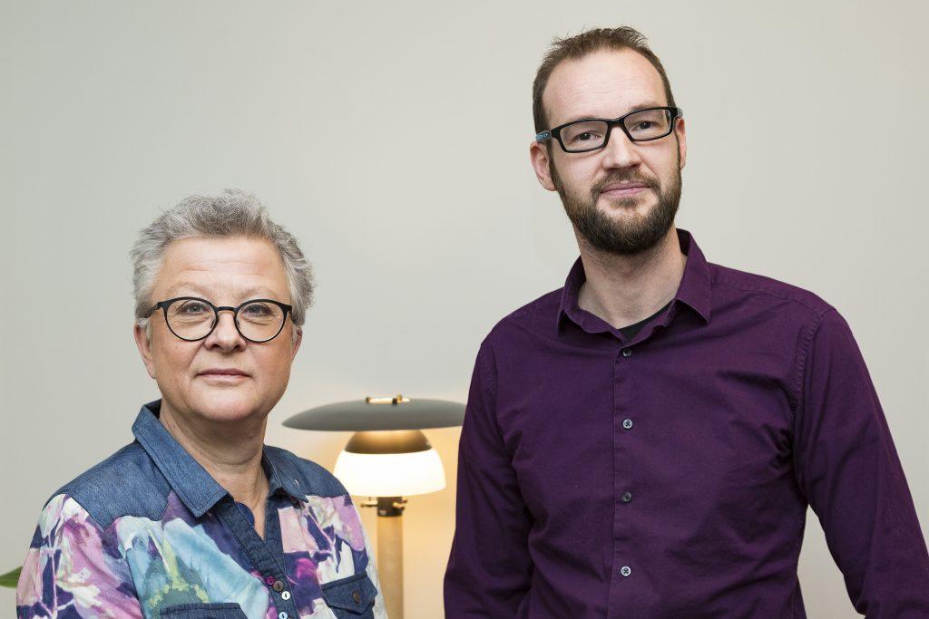 Verksamhetschef Maria Söderberg och barnläkare Godfried Van Agthoven, ansvarig för det nyskapade barnskyddsteamet. Foto: Bild och Media