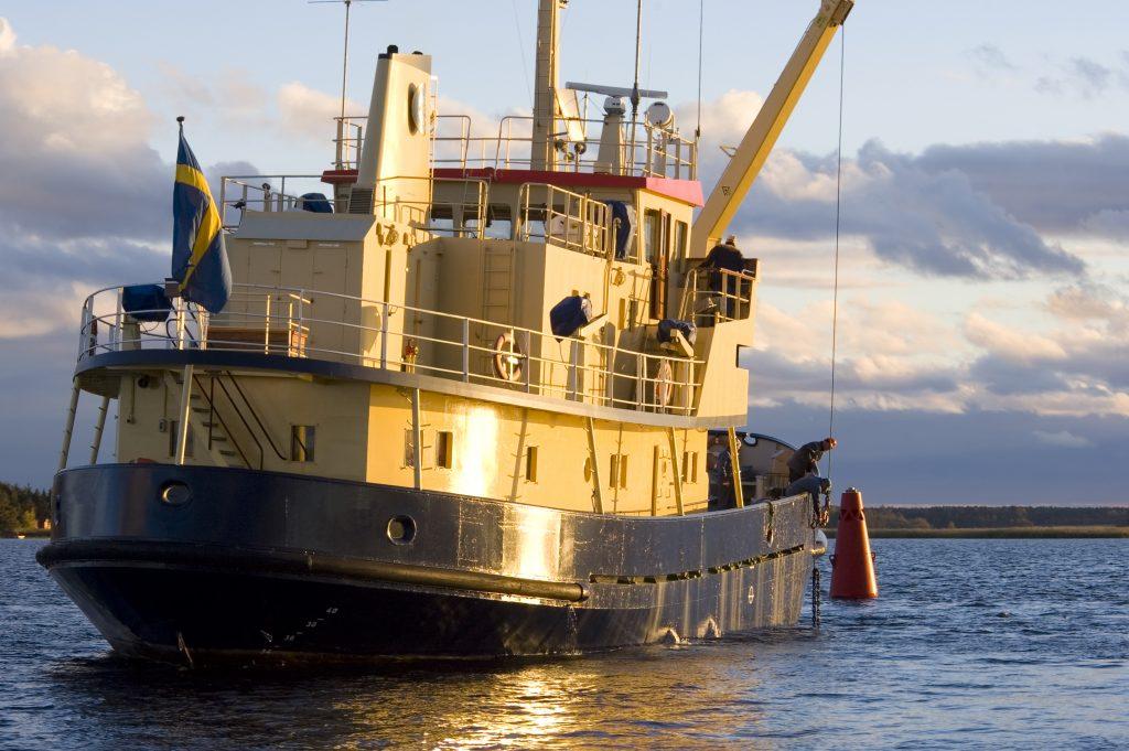 Trots lågt vattenstånd i Vänern är det ingen fara för sjöfarten.