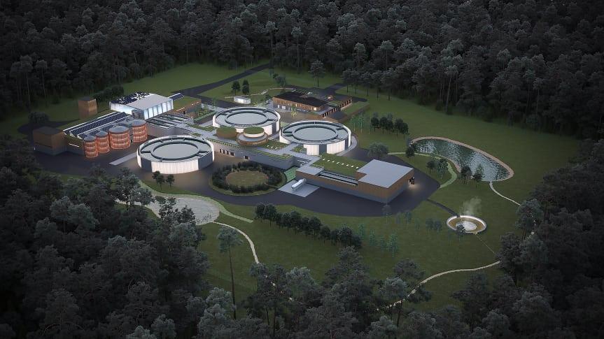 Lidköpings planerade nya avloppsreningsverk.