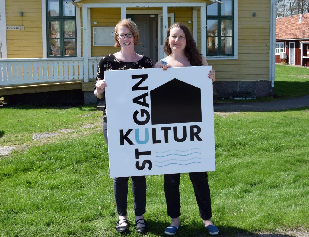 Åsa Wibjörk och Johanna Marström hoppas att barn och unga i Karlsborg ska hitta till den skapande verksamheten i Kulturstugan.